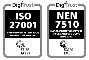 Vcare draagt ISO 27001 en NEN 7510 certificaat