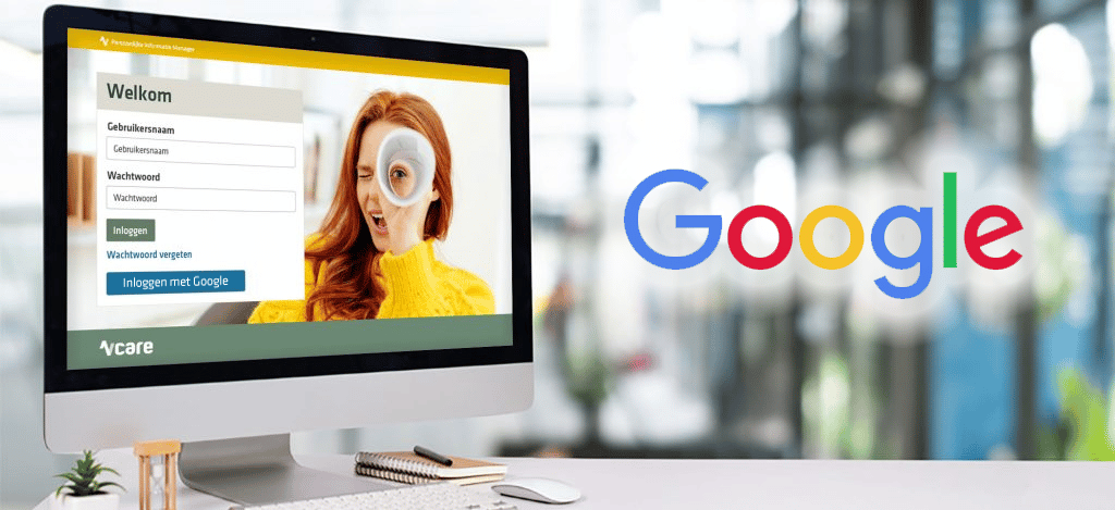 Google-integrator met Vcare connect