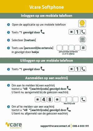 Softphone informatie sheet