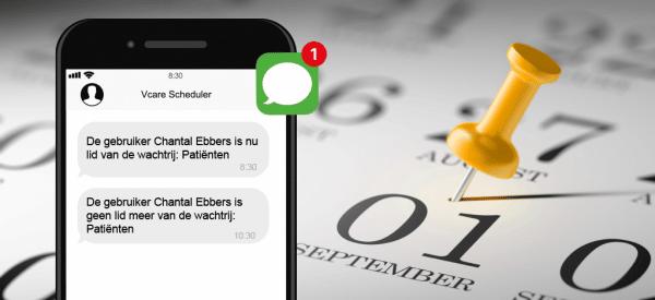 SMS-notificatie met Vcare Scheduler